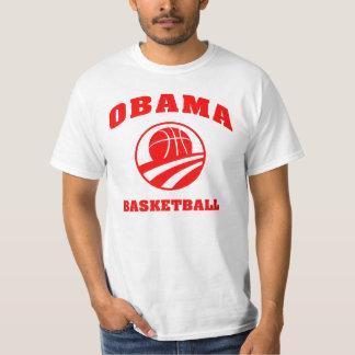 Tshirt do vermelho do basquetebol de Obama