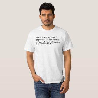 Tshirt dois tipos de pessoas neste mundo
