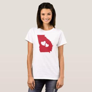 Tshirt dos corações do estado de Geórgia