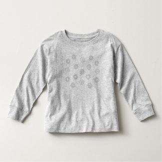 Tshirt dos miúdos dos flocos de neve