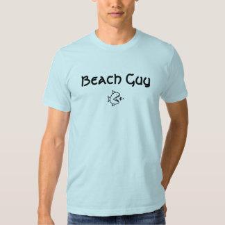 Tshirt dos peixes da cara da praia