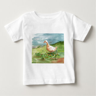Tshirt dourado da criança do ganso