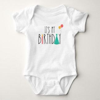 Tshirt É meu Bodysuit do bebê do aniversário