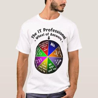 Tshirt ELE roda do profissional das respostas