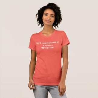 Tshirt engraçado do anúncio da gravidez