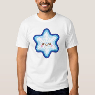 Tshirt engraçado dos homens do floco de neve do