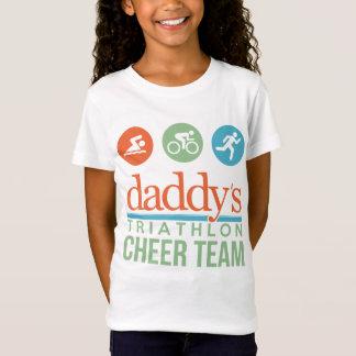 Tshirt equipe do elogio do triathlon do pai