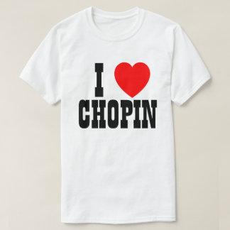 Tshirt Eu amo Chopin ou o que quer que