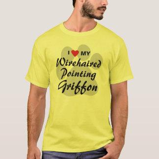 Tshirt Eu amo (coração) meu apontar Griffon Wirehaired