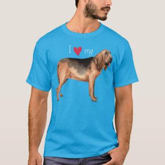 Tshirt Eu amo meu Bloodhound