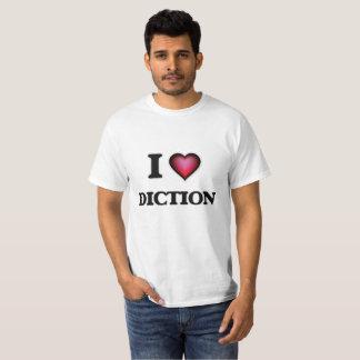 Tshirt Eu amo o Diction