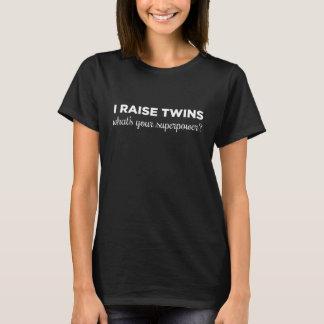 Tshirt Eu aumento gêmeos, o que sou sua superpotência?