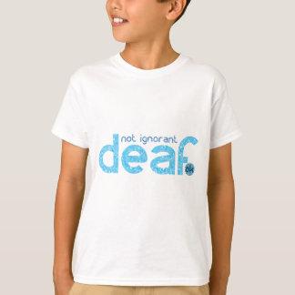 Tshirt Eu sou consciência nao ignorante surda