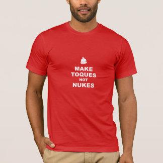 Tshirt Faça armas nucleares dos Toques não - o vermelho