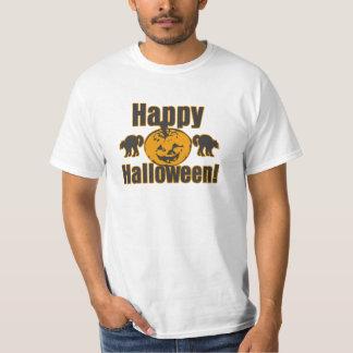 Tshirt feliz do valor do traje dos gatos da abóbor