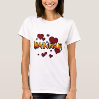 Tshirt first name Hannah for alpargatas and other