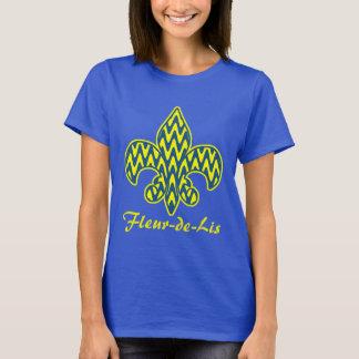 Tshirt Flor de lis azul e amarela
