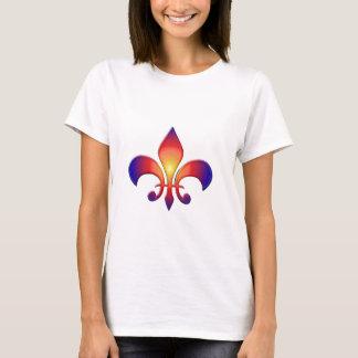 Tshirt Flor de lis do arco-íris