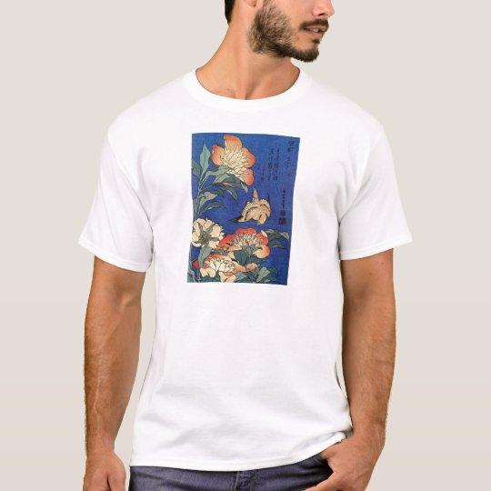 Tshirt Flores e um pássaro