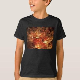 Tshirt Fractal vibrante de Digitas do abstrato do outono