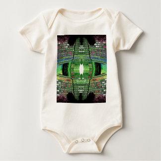 Tshirt futurista 2 do bebê do desenhista do design