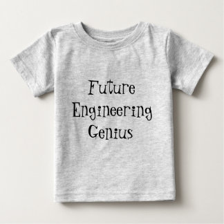 Tshirt futuro das crianças da criança do gênio da