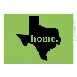 TShirt Home de Texas Cartão Comemorativo