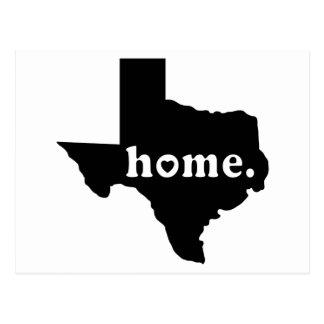 TShirt Home de Texas Cartão Postal