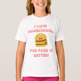 Tshirt Humor de Homeschool do cheeseburger