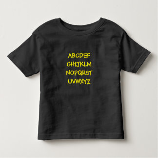 Tshirt Impressão do alfabeto da criança