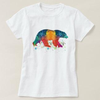 Tshirt impressionante da pintura do urso polar da
