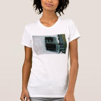Tshirt impresso abstrato Swiped preto e branco