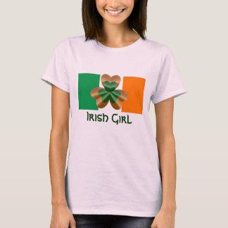 TShirt irlandês do Dia de São Patrício da menina