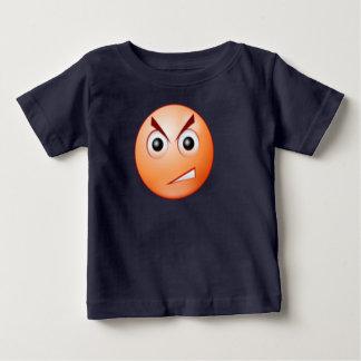tshirt irritado das crianças da cara