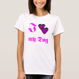 Tshirt J Dog love my