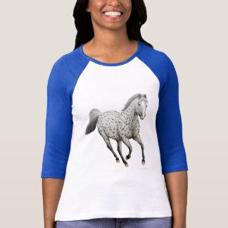 Tshirt Jérsei do Raglan do cavalo do Appaloosa do