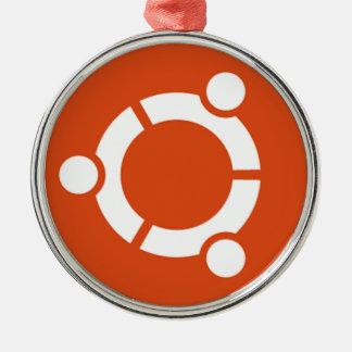 Tshirt Kode ub05 de Ubuntu Linux Ornamento Redondo Cor Prata