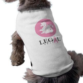 Tshirt legal do cão dos segundos roupas para pets