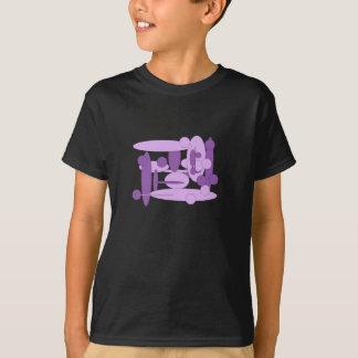 Tshirt Lilac abstrato