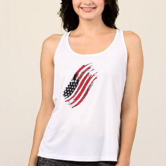 Tshirt listras da estrela da bandeira dos E.U. do