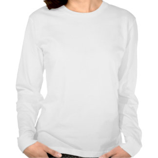Tshirt longo da luva do roupa americano de HoHoHo