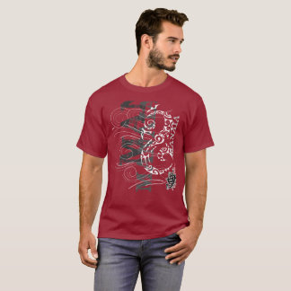 Tshirt Manaia - guardião (escrita vermelha)