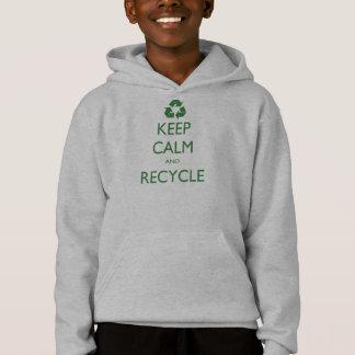 Tshirt Mantenha a calma e recicl