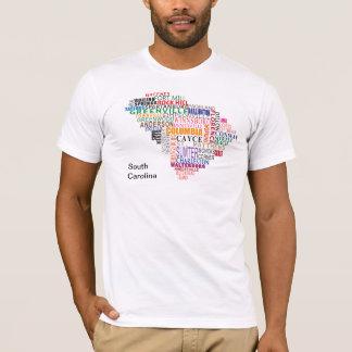 Tshirt Mapa da cidade de South Carolina