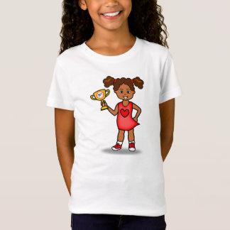 Tshirt Menina bonito dos desenhos animados que guardara o