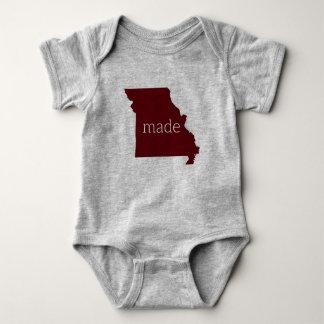 Tshirt Missouri fez o Bodysuit do bebê {marrom e as