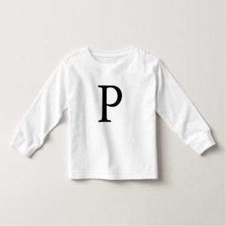 Tshirt monogrammed inicial do preto do monograma
