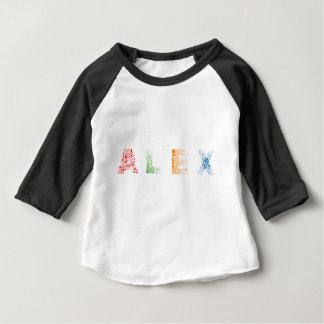 Tshirt Nome de letra de Alex