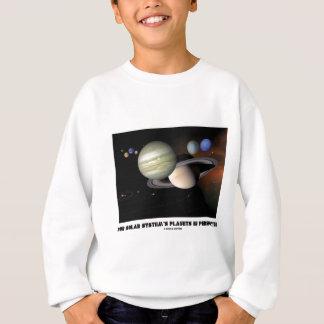 Tshirt Nossos planetas de sistema solar na perspectiva