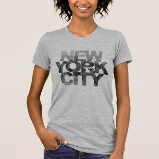 Tshirt Nova Iorque (texto da máscara do grampeamento)